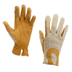Men's Horka Crochet Gloves Champagne