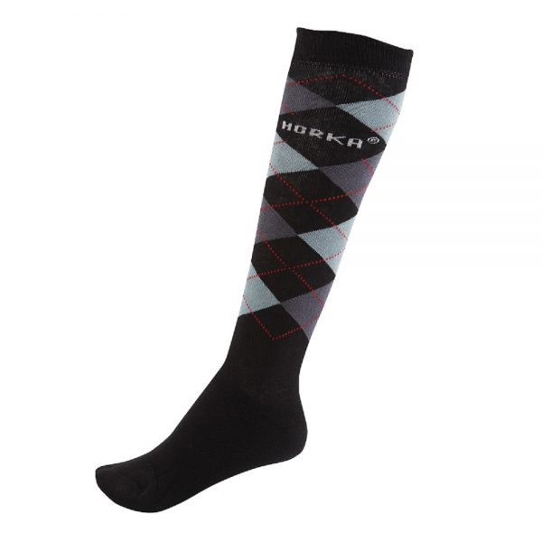 Horka Men's Riding Socks Black and Grey