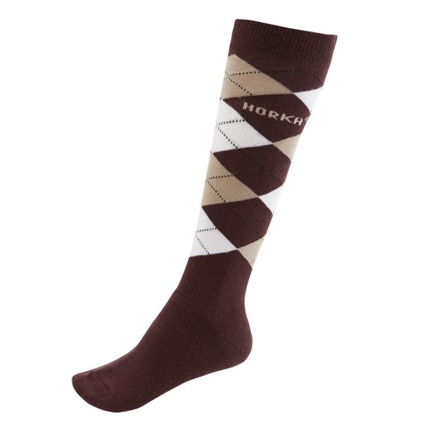 Horka Men's Riding Socks Dark Brown and Beige