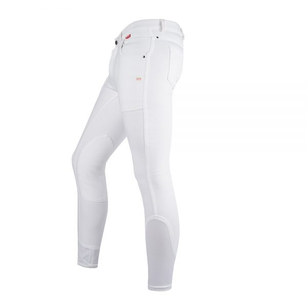 Red Horse Boy's Aiden Breech White Left Side
