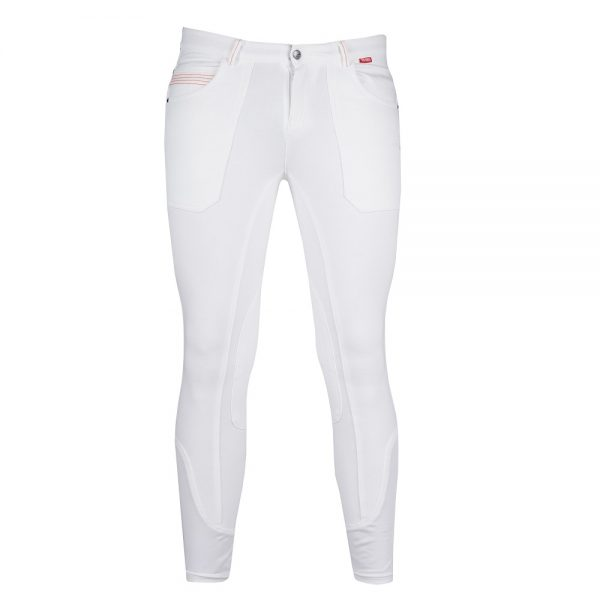 Red Horse Boy's Aiden Breech White Front