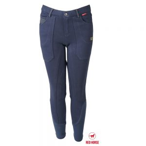 Red Horse Boy's Aiden Breech Indigo Front