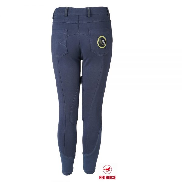 Red Horse Boy's Aiden Breech Indigo Back