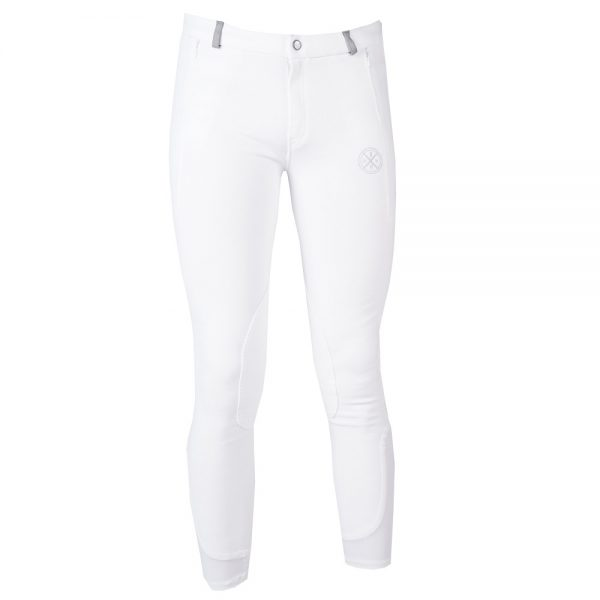 Red Horse Boy's Slim Breeches White Front