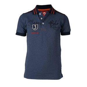 Red Horse Boy's Luka Polo Shirt Dark Denim