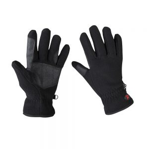 Red Horse Fleece Gloves Black