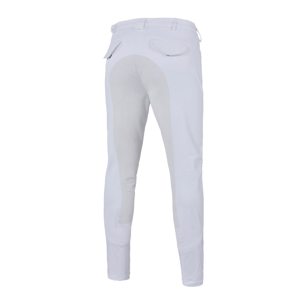 KEITH K-TECL breeches, men, with full seat, White, Rear View