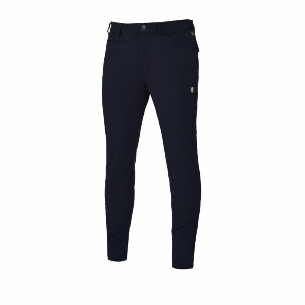 Kingsland Men's Kenton Breeches with Knee Patches, Navy Blue