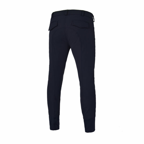 Kingsland Men's Kenton Breeches with Knee Patches, Navy Blue Back View
