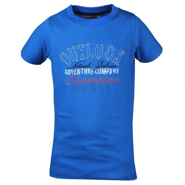 Red Horse Colorado T-Shirt Royal Blue Front