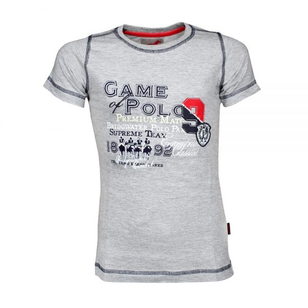 Red Horse Harlem T Shirt Grey Front
