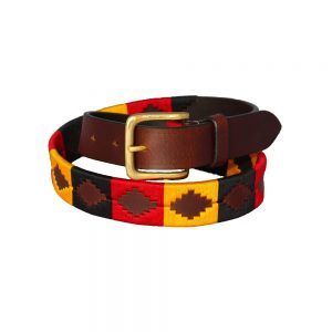 Chukka Newmarket Belt, Red, Black and Yellow